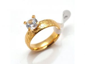 Sanaa Creations Buy Beautiful American Diamond Gold Plated Ring Online-(size-18)-(product Code-1mr26)