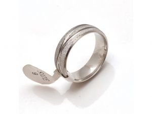 Sanaa Creations Stylish Stainless Steel Rings With Silver Dust-(size-18)-(product Code-1mr28)