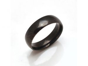 Sanaa Creations Unisex Simple Design Black Band Ring-(product Code-1mr48)