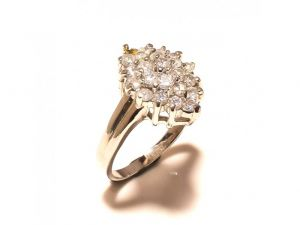 Sanaa Creations Elegant Cz Flower Shape Silver Plated Ring For Parties-(product Code-1rn177)