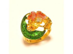 Sanaa Creations Fancy Multicolor Gold Plated Ring With Cz On Top For Parties-(product Code-1rn191)