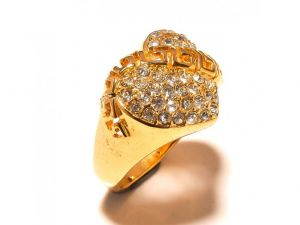 Sanaa Creations Gold Plated Designer Ladies Ring Studded With Cz-(product Code-1rn211)