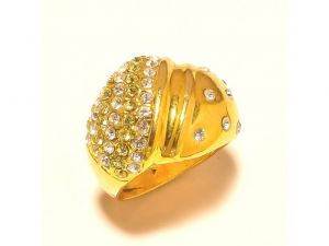 Sanaa Creations Gold Plated Exclusive Ring For Both Men & Women Studded With Cz-(product Code-1rn228)