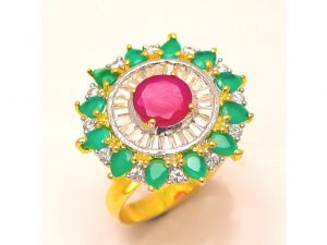 Sanaa Creations Gold Plated Designer Exclusive Ladies Ring Studded With Pearl Black Enameling-(product Code-4rn-ms20)