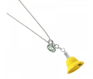 Sanaa Creations Trendy Yellow Color Bell Shape With Funky Tag Keychain/pendant-(product Code-1kp71)