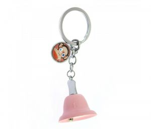 Sanaa Creations Trendy Light Pink Color Bell Shape With Monkey Tag Keychain/Pendant-(Product Code-1KP72)