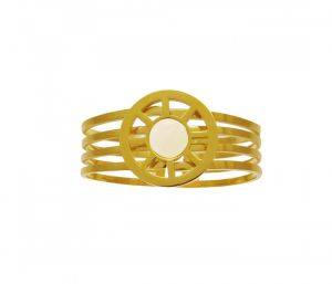 Sanaa Creations Gold Plated Iconic Crafted Circle Kada For Stylish Men-(product Code-1mb194)