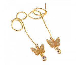 Sanaa Creations Gold Plated Fancy Butterfly With Cz Studded Delicate Earring-(product Code-1ern33)