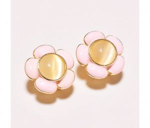 Sanaa Creations Pink Flower Shape Multicolor Designer Earring-(product Code-1ern42)