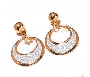 Sanaa Creations 2 Tone Dangler Double Shape Fancy Earring-(product Code-1ern75)