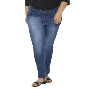 Jeggings - ZUSH Mid Rise Regular Fit Black color Cotton Blend plus sized Jeggings for womens ZU1027