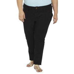 Zush Mid Rise Regular Fit Blue Color Cotton Blend Plus Sized Jeans For Womens Zu1032