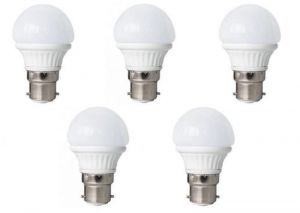 LED Bulb 3w Bright White Light LED Bulb Saving Energy 1 Set Of 5 Pcs.