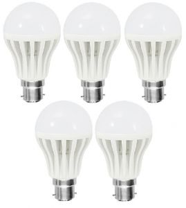 Bgm LED Bulb 9w Bright White Light LED Bulb Saving Energy 1 Set Of 5 Pcs.