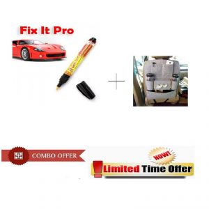 Special Combo Offer ! Car Back Seat 6 Pocket Organizer With Scratch Remover Pen For Car And Bike - Fxtcb6
