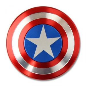 Captain America Shield Fidget Spinner Hand Spinner For Autism And Adhd Kids/adult Funny Anti Stress Toy