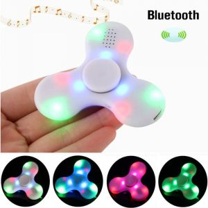 LED Light Bluetooth Speaker Anti-stress Fidget Hand Tri Spinner.(assorted Color)