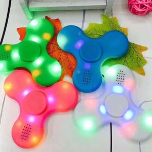 Bluetooth Speakers - LED Light Bluetooth Speaker Anti-stress Fidget Hand Tri Spinner Edc Gyro Frugal