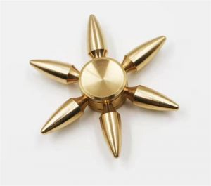 Bullet Toys Brass Fidget Spinner Hand Metal Gold Spinner-hand Top Spinner Toy