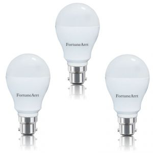Fortunearrt 7 Watt LED B22 Base Bulb (white) - Pack Of 3