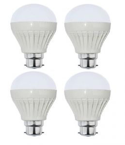 Autorise 9 Watt Plastic LED Bulb(white) Pair Of 4