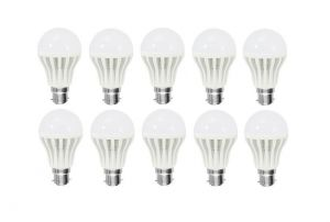 Shoppingekart Plastic Round Shaped White 3 Watt Super LED Bulb Pack Of 10 - (code -b-led10)