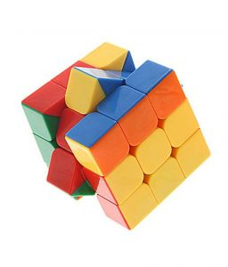 Montez Stickerless Magic Rubik Cube 3x3x3 High Speed