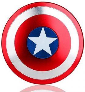 Captain America Shield Metal Body Fidget Ultra Speed Hand Spinner Toy