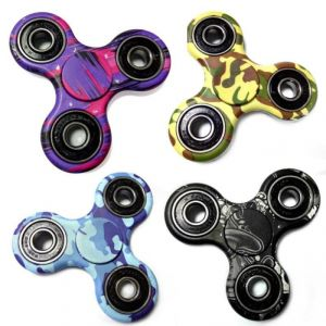 Camouflage Styles Fidget Spinner Spinner For Autism And Adhd Long Time Rotation Anti-stress Toys