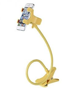 Flexible Long Lazy Metal Clamp Mobile Phone Holder For Smartphones Yellow