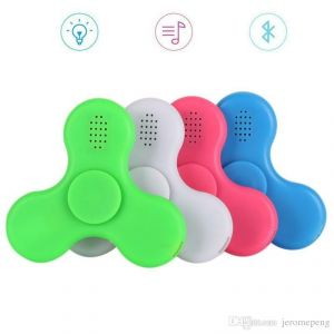 Fidget Spinner LED Light With Bluetooth Speaker USB Power Supply, Durable Bearing For Killing Time Relieves Anxiety Stress Reducer.(assorted Colors)