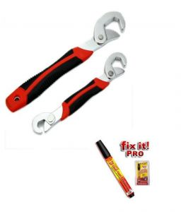 Snap N Grip Red Steel Multipurpose Wrench With Free Scratch Remover Pen