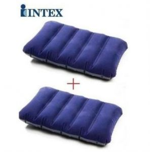 2 Pcs. Intex Original Inflatable Travel Rest Air Pillow Waterproof Fabric