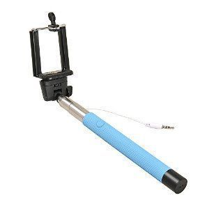 Selfie Stick With Inbuild Cable Monopod -blue