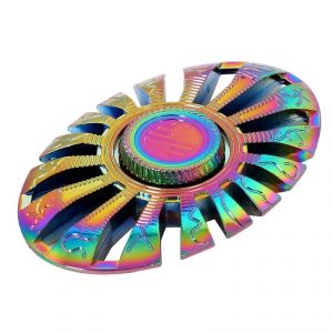 Wheel Power Multicolour Oval Shape Mettalic Fidjet Spinner