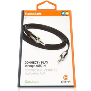 Griffin Flat Aux Stereo Male Cable For iPhone Ipad Htc Nokia Samsung.