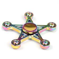 Rainbow Star Stress Relief Toy Hand Fidget Spinner