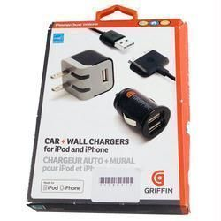 Griffin USB Micro Car Wall Charger Data Cable For Apple iPhone 4 4G 4s