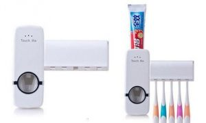 Inindia Automatic Toothpaste Dispenser With Brush Holder ( Deal Of The Week)