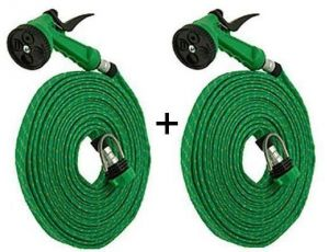 Set Of 2 Spray Gun 10 Meter Mtr House Garden Pipe Car Wash