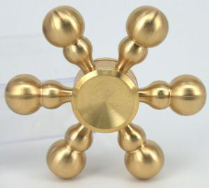 Totu 6 Arms Top Selling Brass Bullet Fidget Spinner Metal Spinner