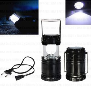 Rechargeable Solar LED Lantern With Torch Light Collapsible Retro Folding Camp Light Ideal For Hiking, Emergencies, Power Outages & Trekking