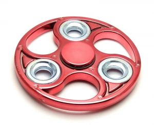 Fashblush Maroon Wheel Style Chrome Look Fidget Hand Spinner