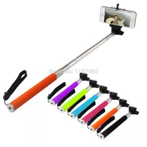 Extendable Self Portraits Wireless Selfie Stick With Built In Bluetooth
