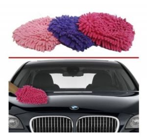 Set Of 4 Microfiber Glove Mitt For Car, Home & Office Cleaning & Washing