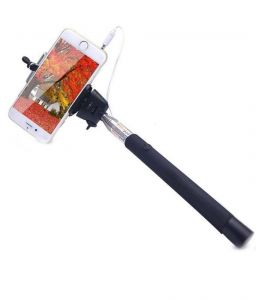 Kifayati Multicolor Selfie Stick With Wire Monopod