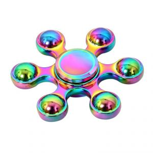 Wheel Power Multicolour Mettalic Heavy Quality Metal Fidjet Spinner