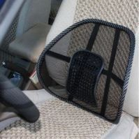 Dh Car Seat Massage Chair Back Lumbar Support Mesh Ventilate Cushion Pad