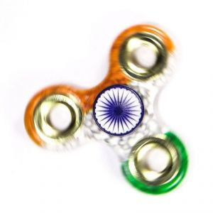 Tri Colour Indian Flag Metal Spinner (independence Day Limited Edition)