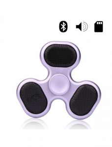 Fidget Metal Bluetooth Speaker Spinner With LED Light & Memory Card Player
